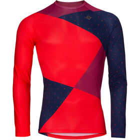 Triple2 Swet Recycled Poly Longsleeve Jersey Heren, beet red